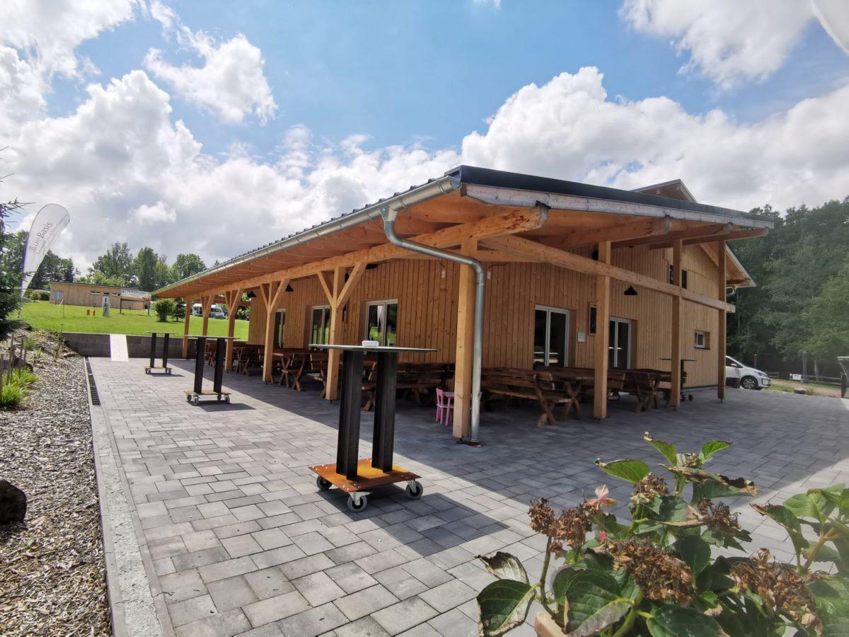Das neue Haupthaus im Naturbad Niederwiesa